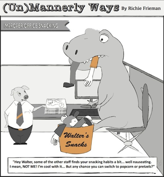 Improper Office Snacking Unmannerly Ways by Richie Frieman copy